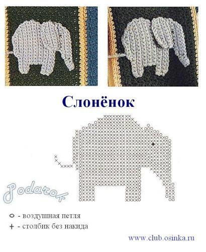 Crochet Easy Elephant Tutorial - Crochet Applique Tutorial - YouTube | 500x410