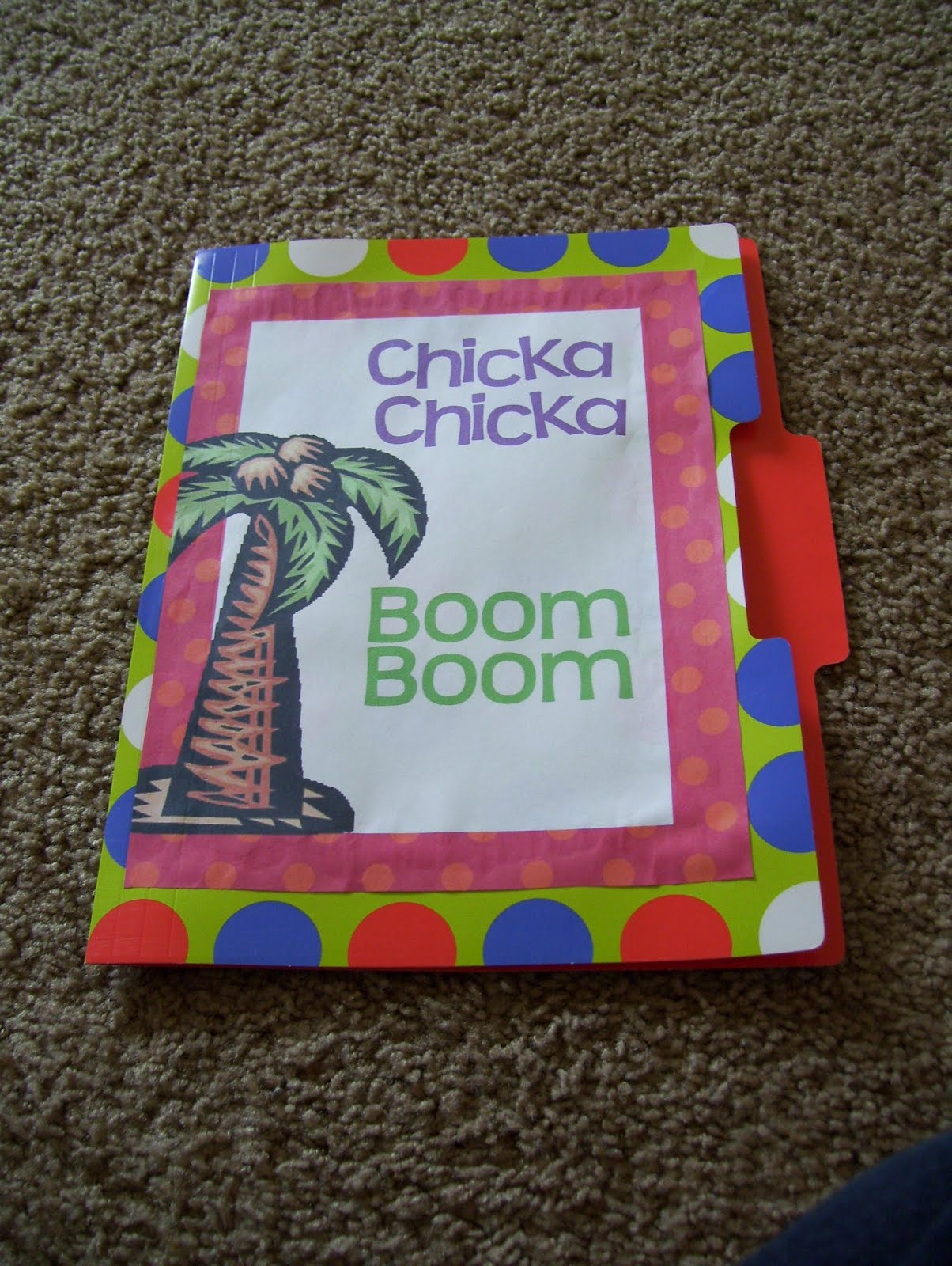 Preschool At Home Chicka Chicka Boom Boom