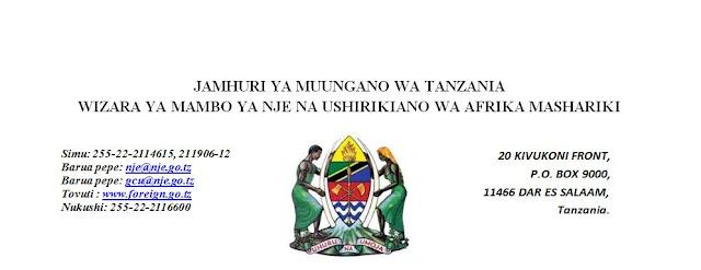 Image result for wizara ya mambo ya nje na ushirikiano wa afrika mashariki logo