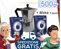 Logo Super Sorteggio: vinci gratis Moka 3 tazze e 500 gr di Caffè Borbone