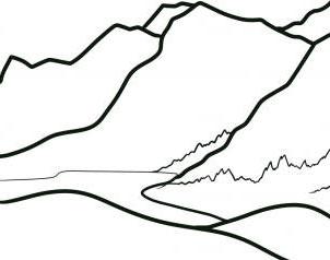 Super Simpel Menggambar Pegunungan Untuk Anak Anak Belajar
