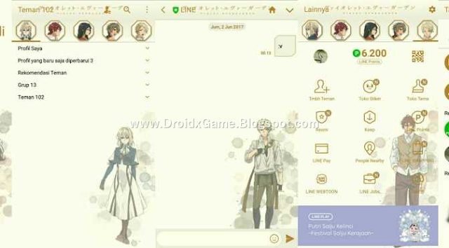 Download Tema Line Anime Violet Ever Garden