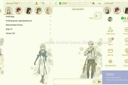 Download Tema Line Anime Violet EverGarden