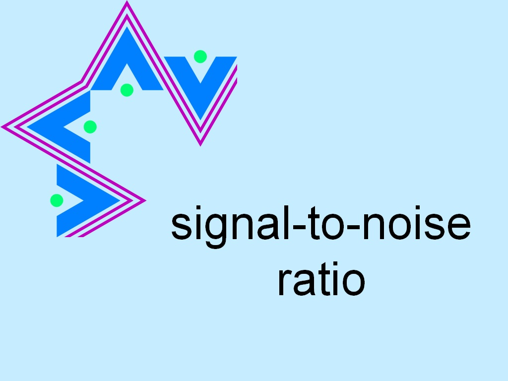 S with line on top medical abbreviation - Signal To Noise Ratio