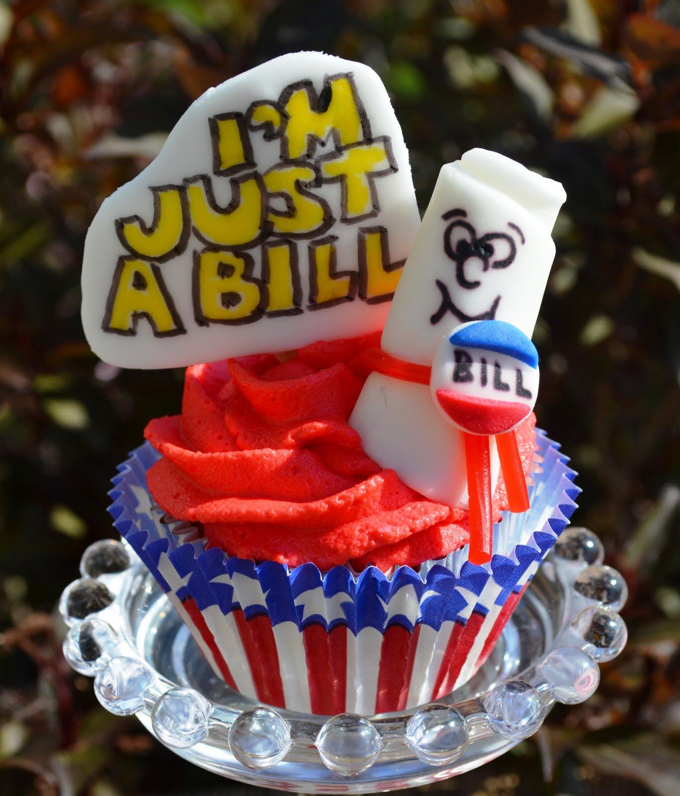 Sweetology School House Rock Cupcake I M Just A Bill
