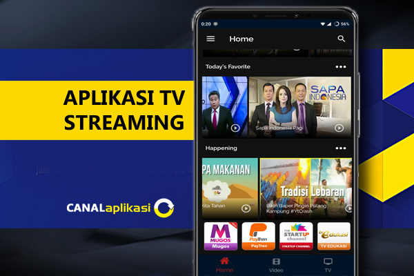 Streaming TV Online di Handphone Android