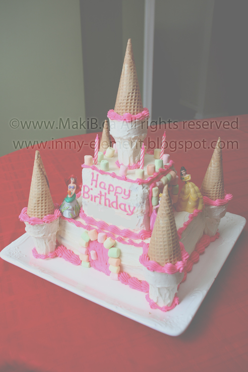 Excellent In My Element Princess Castle Birthday Cake Funny Birthday Cards Online Elaedamsfinfo