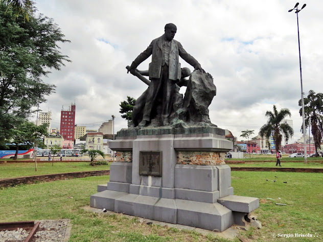 Vista do Monumento a Alfredo Maia - Luz - São Paulo