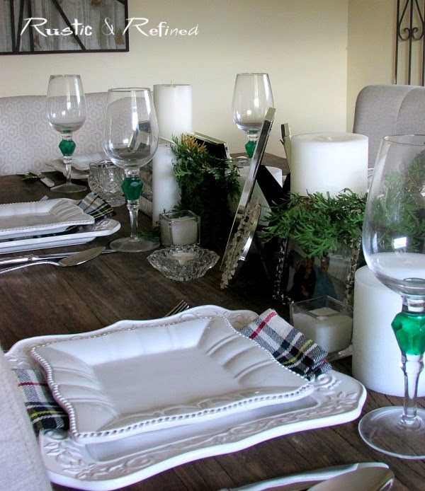 Setting the dinner table so it's easy, fun and you don't need any expensive flowers.