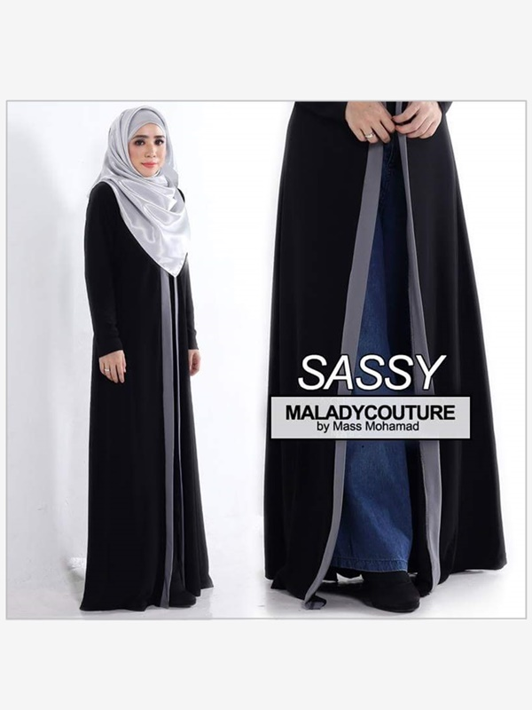 SASSY (LONG CARDIGAN / ABAYA) PLUSSIZE - - SOLD OUT