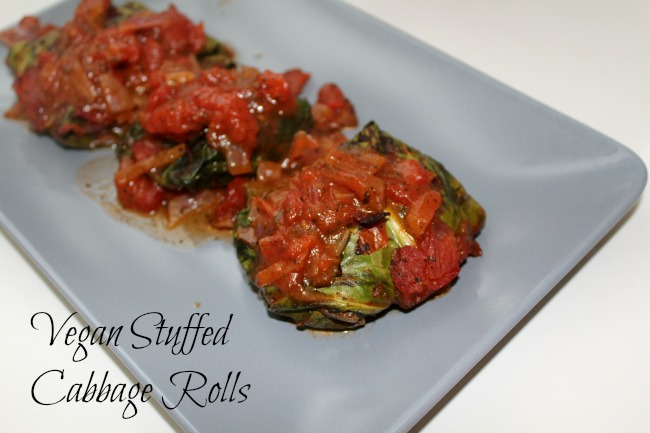 Vegan stuffed cabbage rolls recipe. Nourish ME: www.nourishmeblog.co.uk