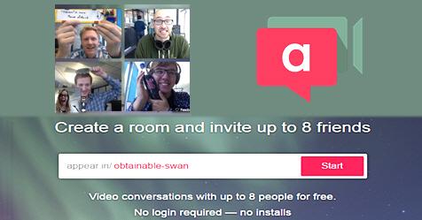 Appear In, δωρεάν video συνομιλίες