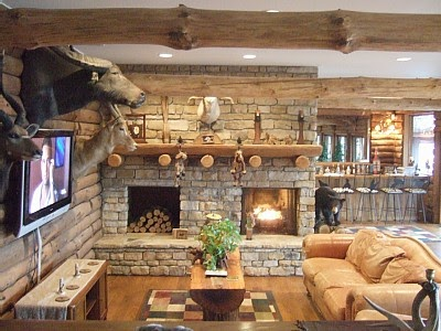 simply home ideas: Warm...rustic romance in the family room