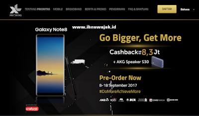 harga samsung galaxy note 8 XL