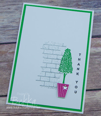 Make In A Moment Vertical Greetings Thank You Card - Get your Stampin' Up! UK Supplies here
