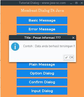Cara Membuat Pesan Dialog Di Java Netbeans
