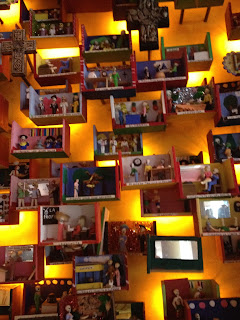 Wall decor at El Vez restaurant in Philadelphia, PA