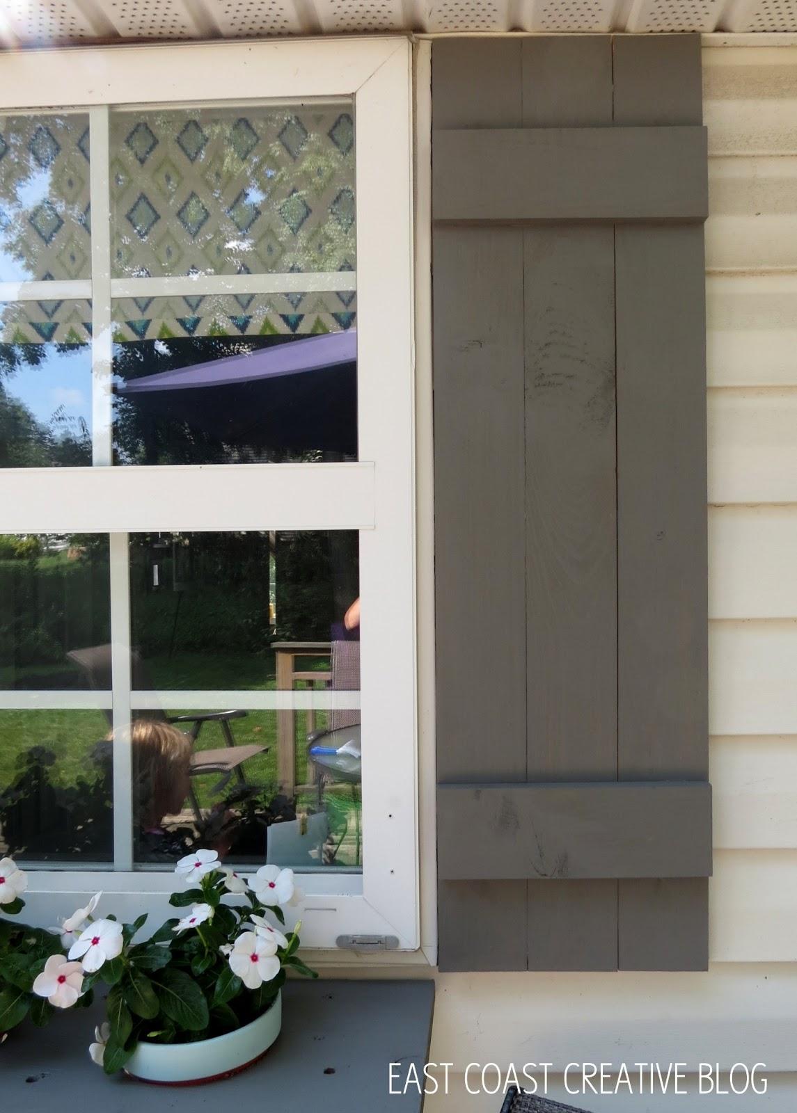 DIY Shutters and Window Box