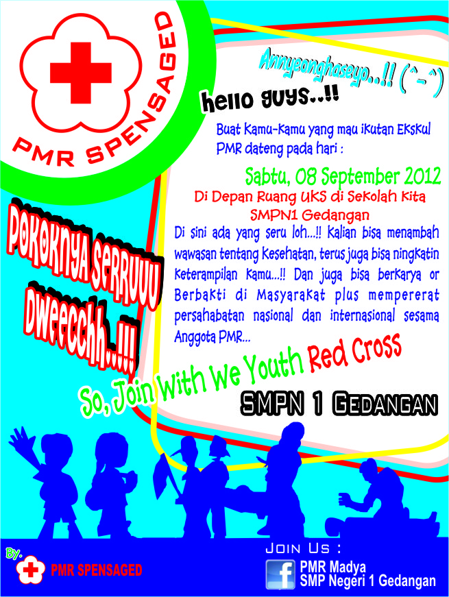 Youth Red Cross: Poster Promosi PMR Spensaged