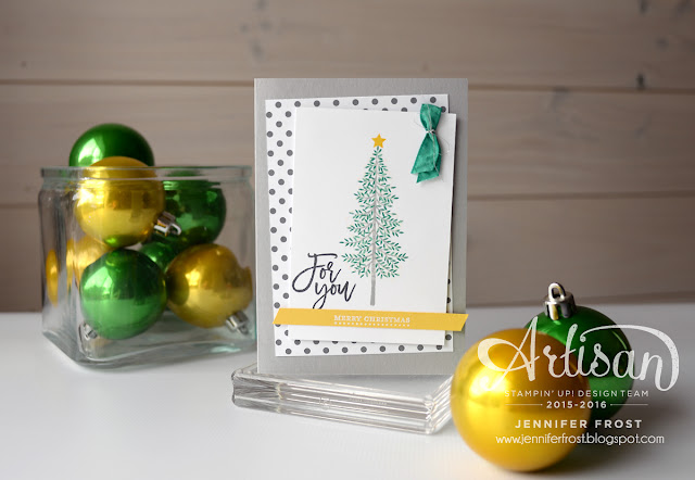 Thoughtful Branches, Exclusive product bundle, Stampin' Up!, Artisan Design Team, Christmas card, Teeny Tiny Sentiments, Papercraft by Jennifer Frost