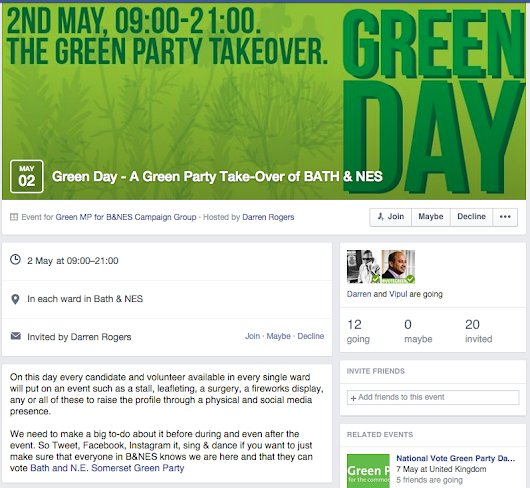 B&NES Green Party Event Banners for Facebook | Ornella Weston Media Portfolio