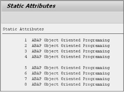SAP ABAP - Classes