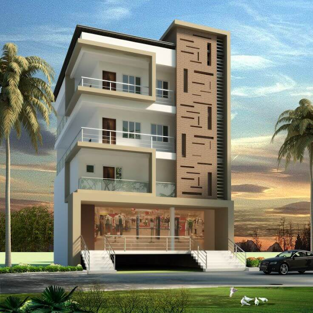 House Front Elevation Multiple Story Home 3D Design Photo Picture & Wallpapers