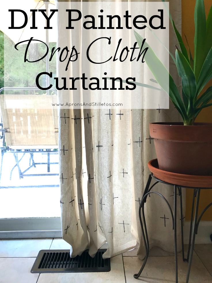 DIY Painted Drop Cloth Curtains