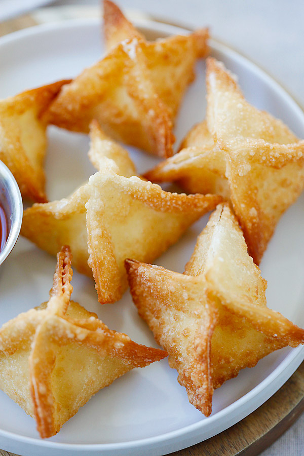 Chinese Food Party Appetizers Crab Rangoon