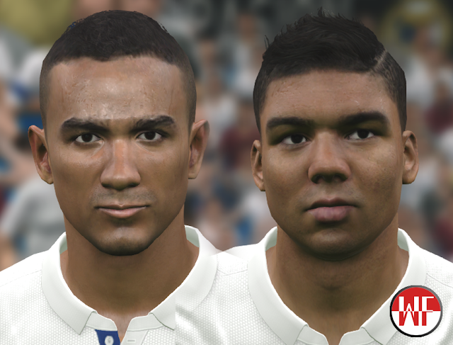 PES 2016 / PES 2017 Real Madrid Mini Facepack (Danilo & Casemiro) by WER Facemaker