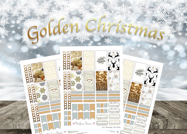Gold Christmas Sticker