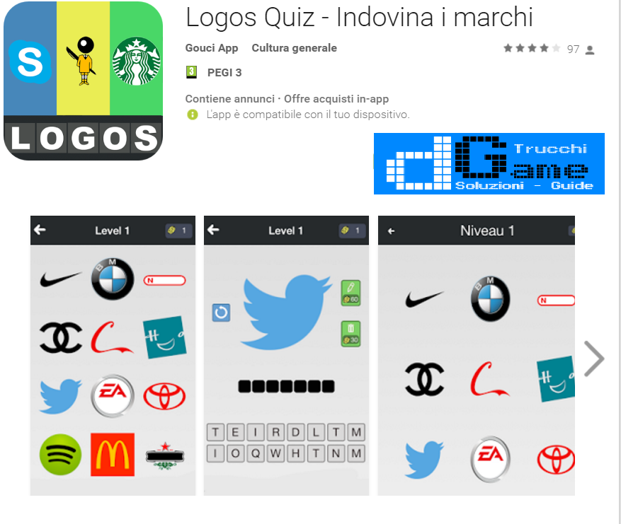 Soluzioni Logos Quiz di tutti i livelli | Walkthrough guide