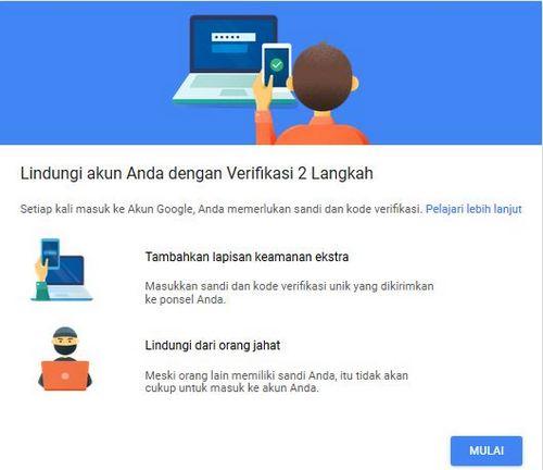 cara mengaktifkan verifikasi 2 langkah gmail