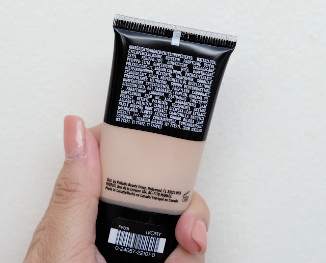 a photo of Palladio Powder Finish Oil-Free Foundation Review by Nikki Tiu of www.askmewhats.com