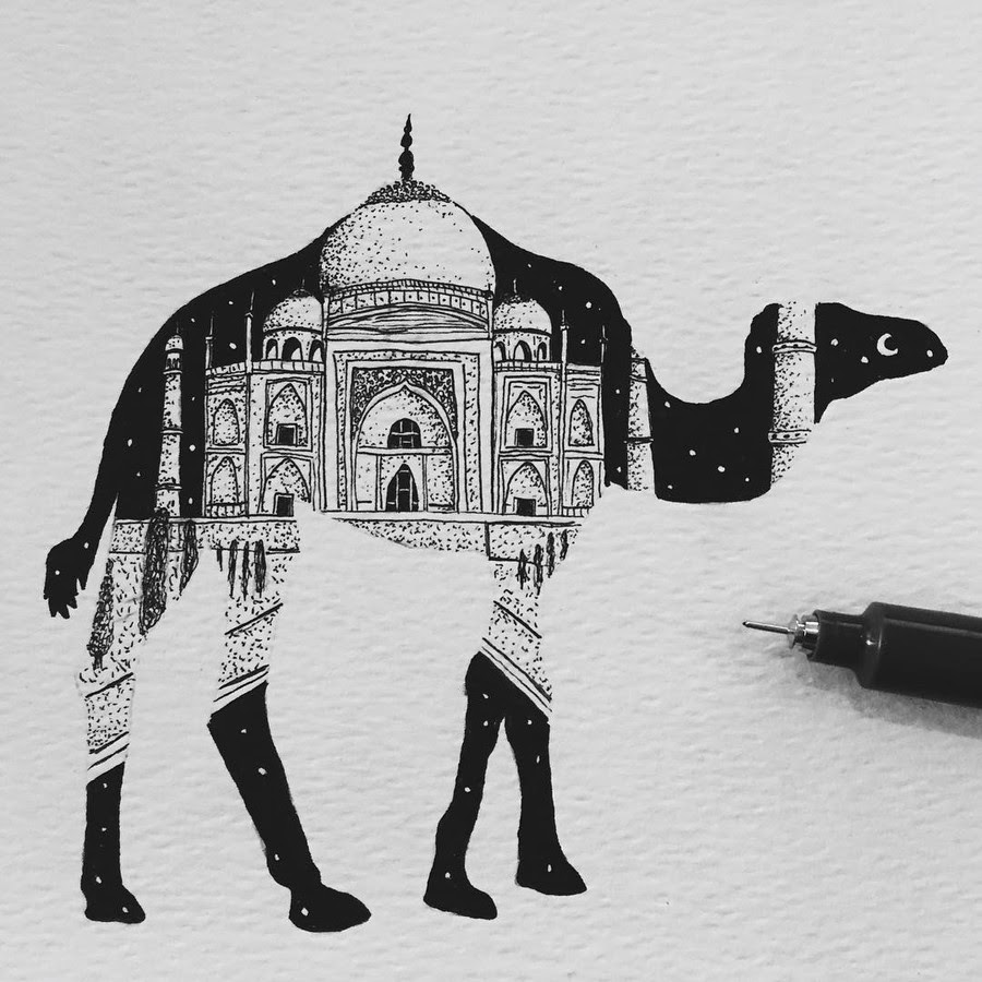 09-The-Camel-and-Taj-Mahal-Paige-Bates-www-designstack-co