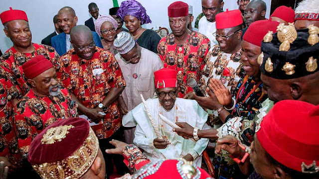 Buhari in Ebonyi state assures that he will fulfill promise to Igbos