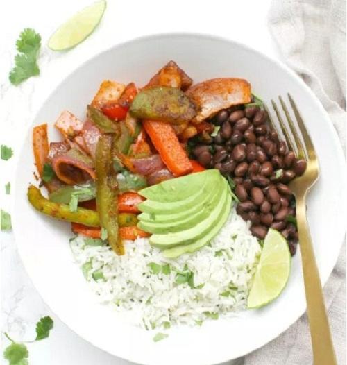 The Fajita Veggie Bowls with Cilantro Lime Rice