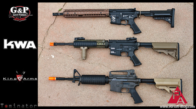 Triple GBBR Review, GBBR Comparison, KWA LM4 PTR, King Arms Colt M4A1 GBBR, G&P WOC GBBR, WA GBBR, Western Arms-based GBBR, Elite Force Airsoft BBs, Pyramyd Air, Pyramyd Airsoft Blog, Tom Harris Media, Tominator, General Beauregard,