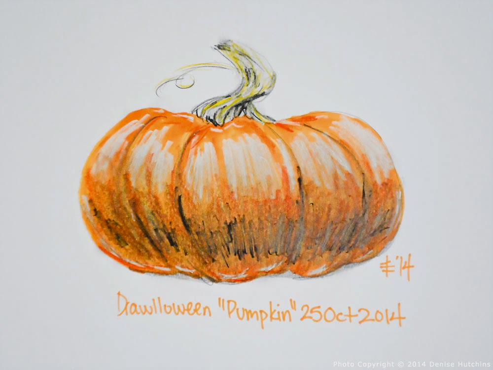 Colored Pumpkin Drawing