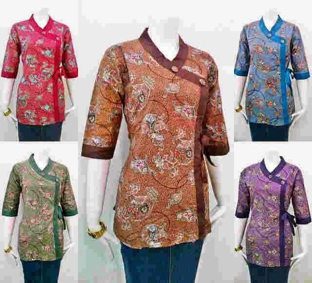 Contoh Potongan Baju Batik Modern: Model Baju Batik Untuk Kerja Terbaru Update 2014