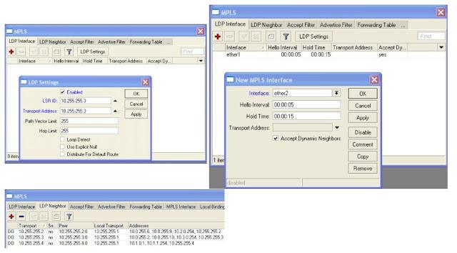 Konfigurasi MPLS Mikrotik