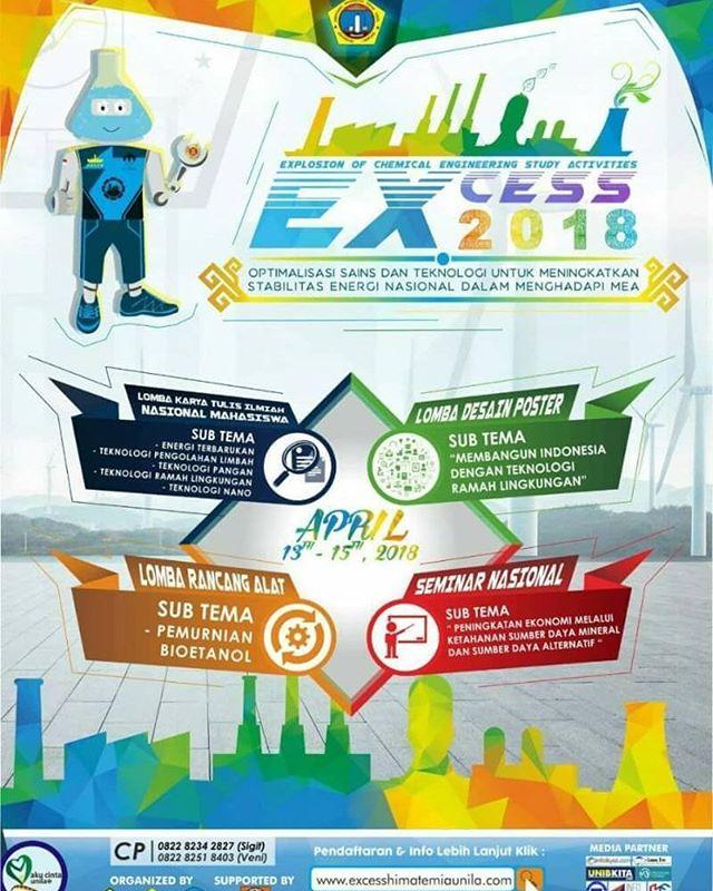 Lomba Karya Tulis Ilmiah Nasional, Rancang Alat & Desain Poster 2018 Untuk Mahasiswa/Umum