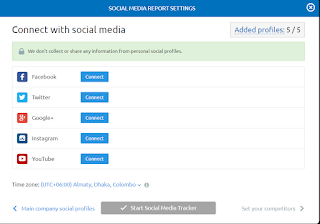 SEMrush Connect With Social Media