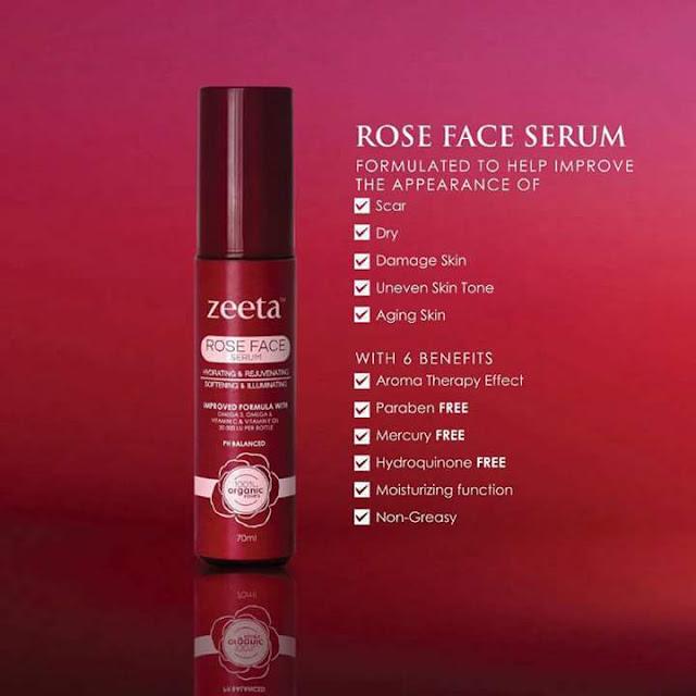 Rose Face Serum Zeeta Produk Terbaik Hilangkan Jerawat dan Jeragat Dengan Cepat