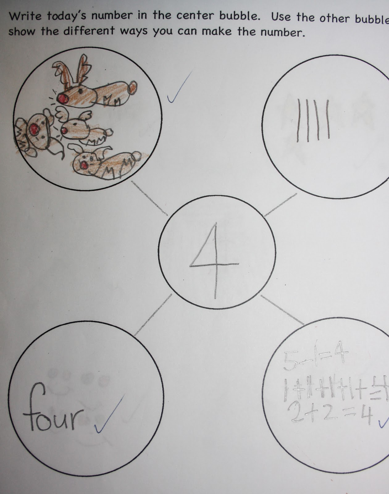 Mrs. Russo's Grade One Class: How Many Ways Can You Make 4?
