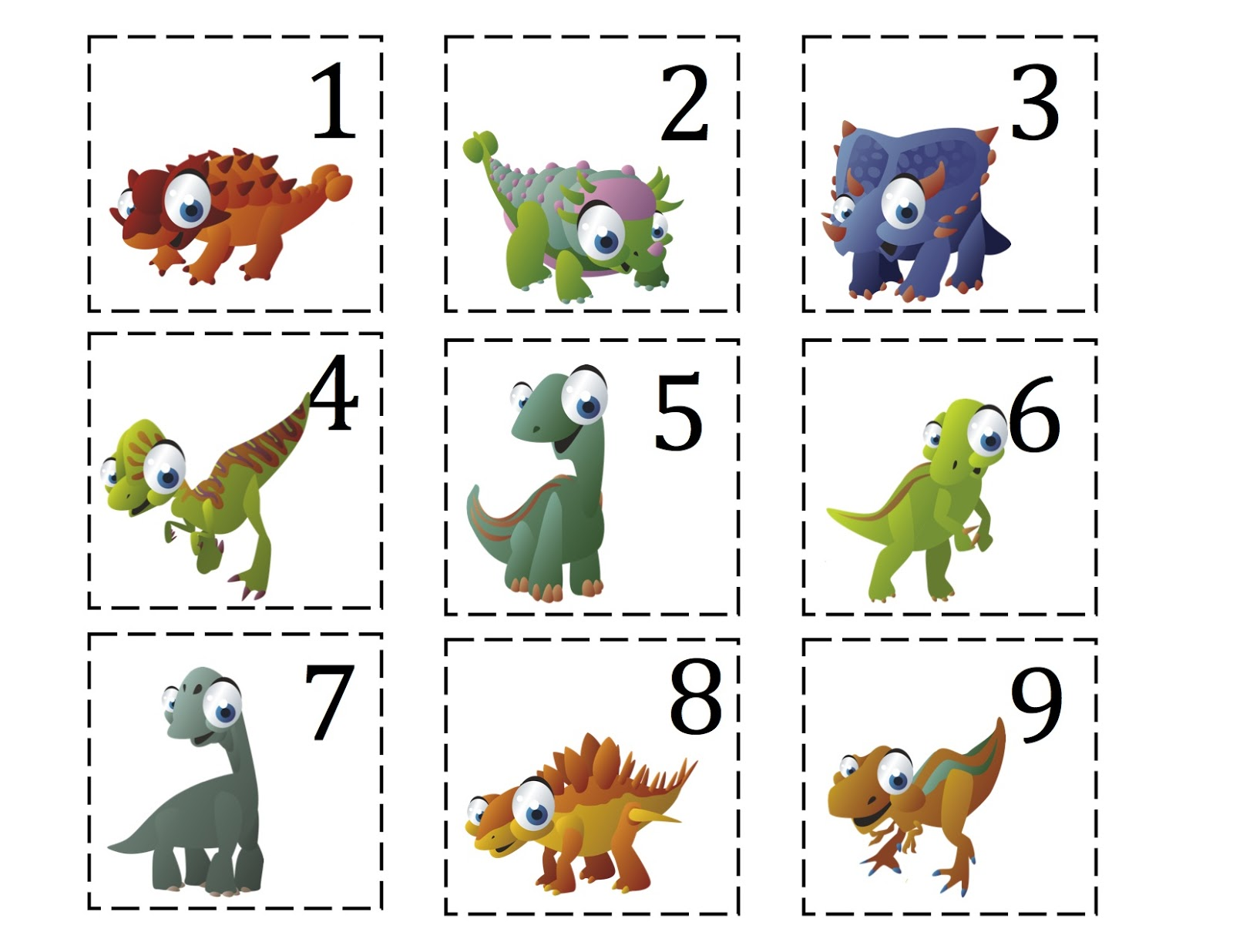 Ten Terrible Dinosaurs Printable Updated Added More
