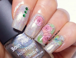 Roses Nail Design Water Decal