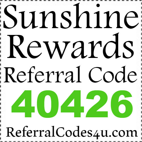 Sunshine Rewards Referral Code 2017, SunshineRewards Referral ID 2016, Sunshine Rewards Reviews