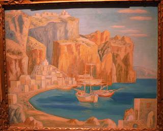 το έργο Ομηρικό Ακρογιάλι του Γεράσιμου Στέρη στην Εθνική Πινακοθήκη
