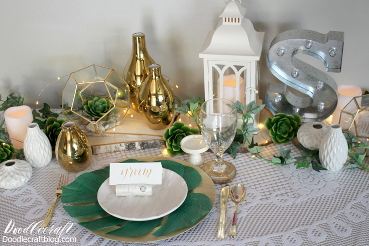 Doodlecraft diy wedding rustic wedding centerpiece decorations if you have a wedding or other formal event in your future there are so many great ways to do it yourself lets talk about fabulous place settings solutioingenieria Images